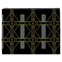 Simple Art Deco Style Art Pattern Cosmetic Bag (xxxl)