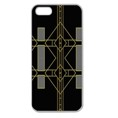 Simple Art Deco Style Art Pattern Apple Seamless Iphone 5 Case (clear)