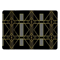 Simple Art Deco Style Art Pattern Samsung Galaxy Tab 10 1  P7500 Flip Case
