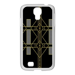 Simple Art Deco Style Art Pattern Samsung Galaxy S4 I9500/ I9505 Case (white)