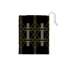 Simple Art Deco Style Art Pattern Drawstring Pouches (small)