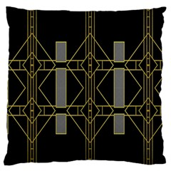 Simple Art Deco Style Art Pattern Large Flano Cushion Case (One Side)