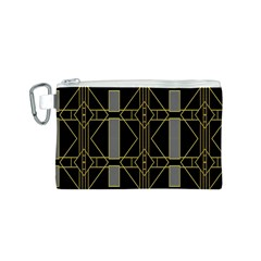 Simple Art Deco Style Art Pattern Canvas Cosmetic Bag (S)