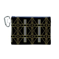 Simple Art Deco Style Art Pattern Canvas Cosmetic Bag (m)