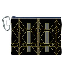 Simple Art Deco Style Art Pattern Canvas Cosmetic Bag (l)