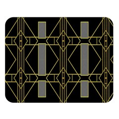 Simple Art Deco Style Art Pattern Double Sided Flano Blanket (Large)