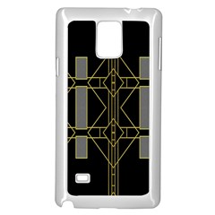 Simple Art Deco Style Art Pattern Samsung Galaxy Note 4 Case (white)
