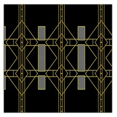 Simple Art Deco Style Art Pattern Large Satin Scarf (square)