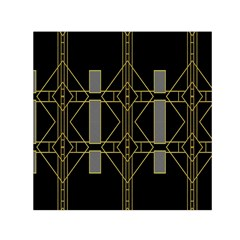 Simple Art Deco Style Art Pattern Small Satin Scarf (square)