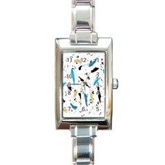 Abstract Image Image Of Multiple Colors Rectangle Italian Charm Watch
