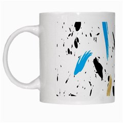 Abstract Image Image Of Multiple Colors White Mugs