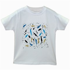 Abstract Image Image Of Multiple Colors Kids White T-Shirts