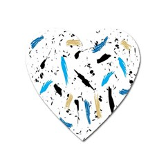 Abstract Image Image Of Multiple Colors Heart Magnet