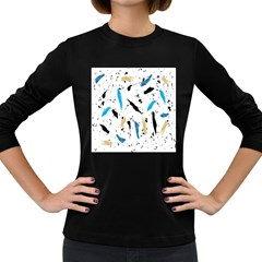 Abstract Image Image Of Multiple Colors Women s Long Sleeve Dark T-Shirts
