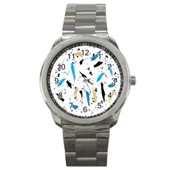 Abstract Image Image Of Multiple Colors Sport Metal Watch