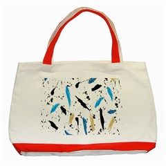 Abstract Image Image Of Multiple Colors Classic Tote Bag (Red)