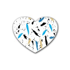 Abstract Image Image Of Multiple Colors Rubber Coaster (heart)