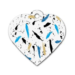 Abstract Image Image Of Multiple Colors Dog Tag Heart (Two Sides)