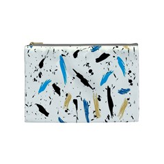 Abstract Image Image Of Multiple Colors Cosmetic Bag (Medium)