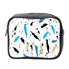 Abstract Image Image Of Multiple Colors Mini Toiletries Bag 2-Side