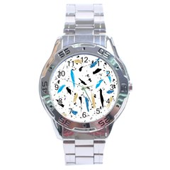 Abstract Image Image Of Multiple Colors Stainless Steel Analogue Watch