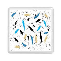 Abstract Image Image Of Multiple Colors Memory Card Reader (Square)