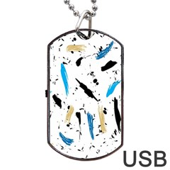 Abstract Image Image Of Multiple Colors Dog Tag Usb Flash (one Side)