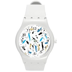 Abstract Image Image Of Multiple Colors Round Plastic Sport Watch (m)