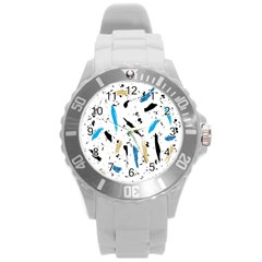 Abstract Image Image Of Multiple Colors Round Plastic Sport Watch (L)