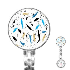 Abstract Image Image Of Multiple Colors Stainless Steel Nurses Watch