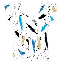 Abstract Image Image Of Multiple Colors Women s V-Neck Cap Sleeve Top