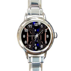 An Interesting Mix Of Blue And Other Colours Balls Round Italian Charm Watch