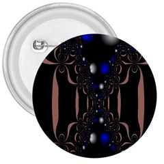 An Interesting Mix Of Blue And Other Colours Balls 3  Buttons