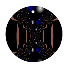 An Interesting Mix Of Blue And Other Colours Balls Ornament (Round)