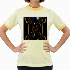 An Interesting Mix Of Blue And Other Colours Balls Women s Fitted Ringer T-Shirts