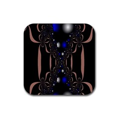 An Interesting Mix Of Blue And Other Colours Balls Rubber Square Coaster (4 Pack)