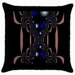 An Interesting Mix Of Blue And Other Colours Balls Throw Pillow Case (Black)
