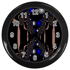 An Interesting Mix Of Blue And Other Colours Balls Wall Clocks (Black)