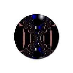 An Interesting Mix Of Blue And Other Colours Balls Rubber Round Coaster (4 Pack)