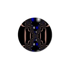 An Interesting Mix Of Blue And Other Colours Balls Golf Ball Marker