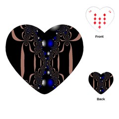 An Interesting Mix Of Blue And Other Colours Balls Playing Cards (heart)