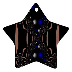 An Interesting Mix Of Blue And Other Colours Balls Star Ornament (Two Sides)