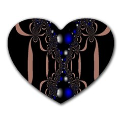 An Interesting Mix Of Blue And Other Colours Balls Heart Mousepads