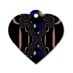 An Interesting Mix Of Blue And Other Colours Balls Dog Tag Heart (One Side)