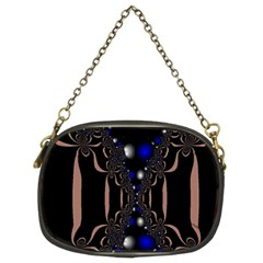 An Interesting Mix Of Blue And Other Colours Balls Chain Purses (Two Sides)