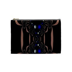 An Interesting Mix Of Blue And Other Colours Balls Cosmetic Bag (Medium)