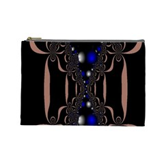 An Interesting Mix Of Blue And Other Colours Balls Cosmetic Bag (large)