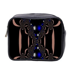 An Interesting Mix Of Blue And Other Colours Balls Mini Toiletries Bag 2 Side