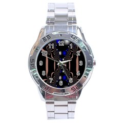 An Interesting Mix Of Blue And Other Colours Balls Stainless Steel Analogue Watch