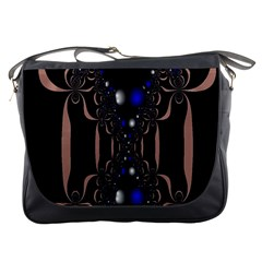 An Interesting Mix Of Blue And Other Colours Balls Messenger Bags